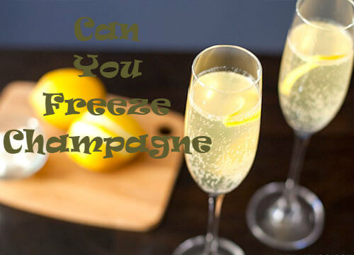 can you put champagne in the freezer